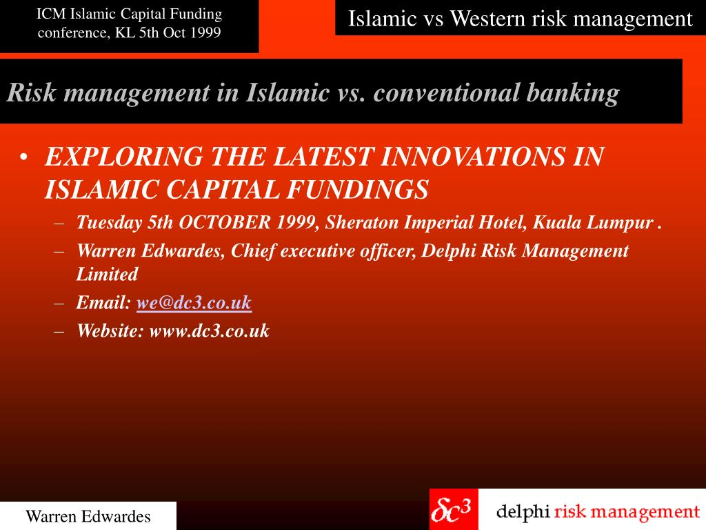 risk management in islamic vs conventional banking l.