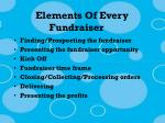 elements of every fundraiser