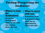 finding prospecting the fundraiser