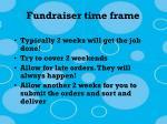 fundraiser time frame