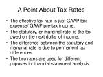 a point about tax rates
