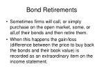 bond retirements