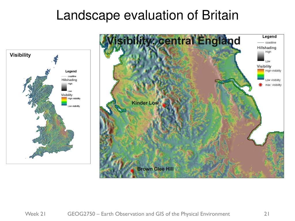 Landscape evaluation of Britain