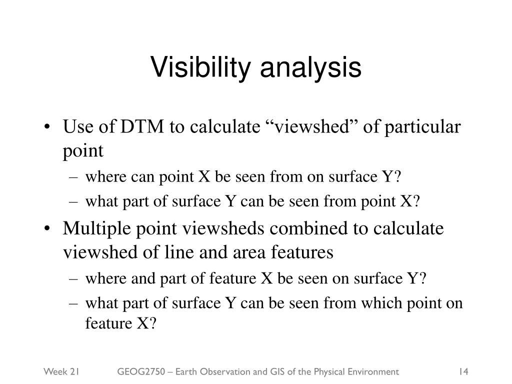 Visibility analysis