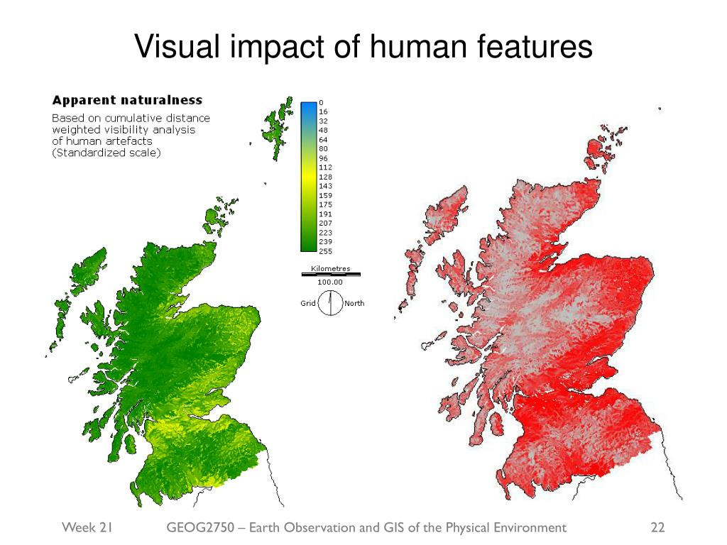Visual impact of human features