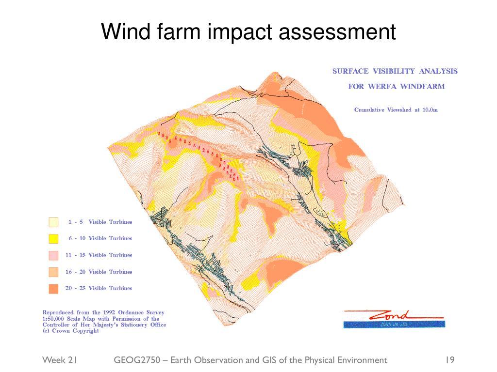 Wind farm impact assessment