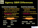 agency sbir differences12