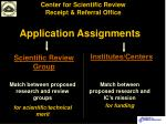 application assignments