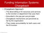 funding information systems chargeback