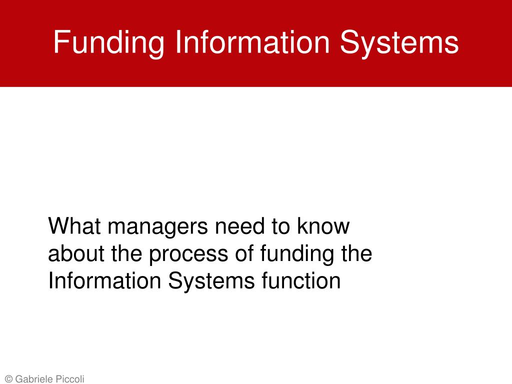 funding information systems l.