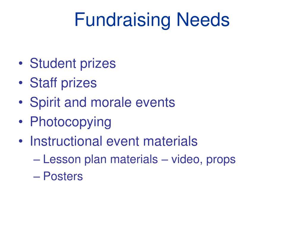 fundraising needs l.