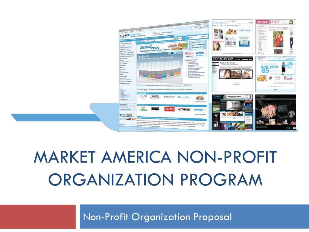 market america non profit organization program l.