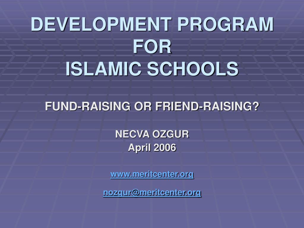 development program for islamic schools l.
