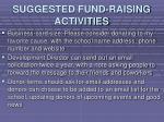 suggested fund raising activities