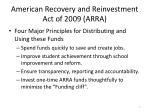 american recovery and reinvestment act of 2009 arra