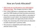 how are funds allocated