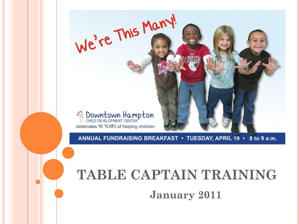 table captain training l.