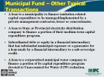 municipal fund other typical transactions