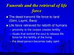 funerals and the retrieval of life force
