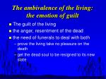 the ambivalence of the living the emotion of guilt