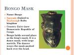 bongo mask