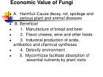 economic value of fungi