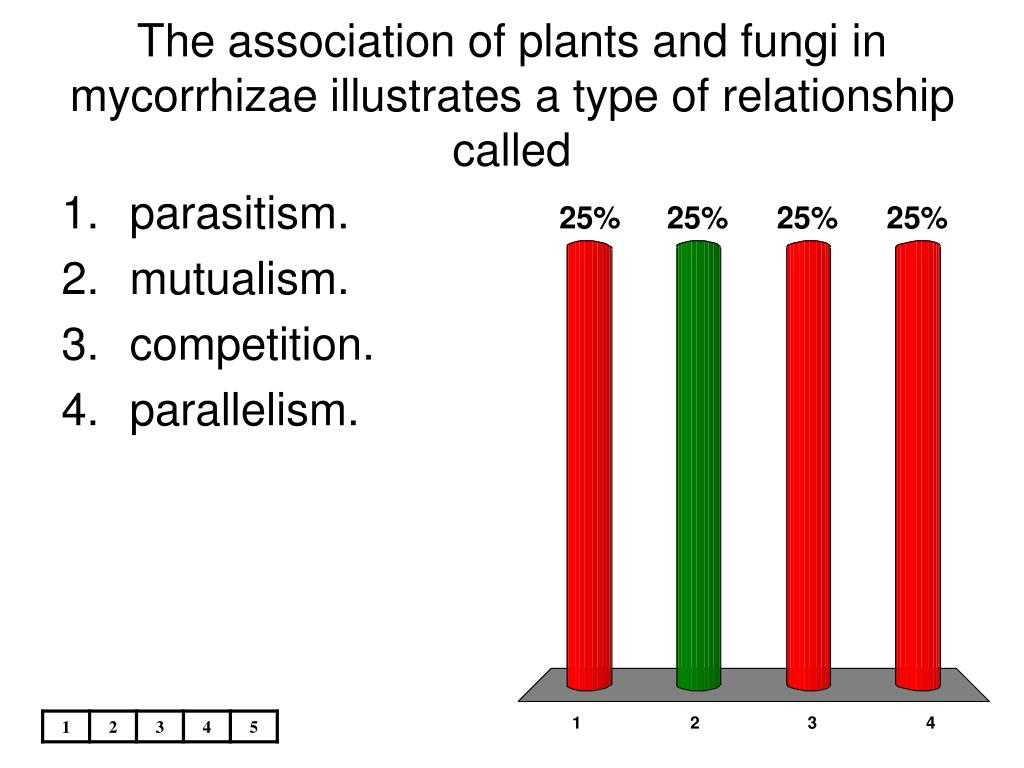 The association of plants and fungi in mycorrhizae illustrates a type of relationship called