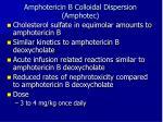 amphotericin b colloidal dispersion amphotec