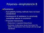 polyenes amphotericin b4