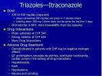 triazoles itraconazole