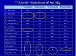 triazoles spectrum of activity