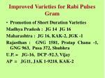 improved varieties for rabi pulses gram