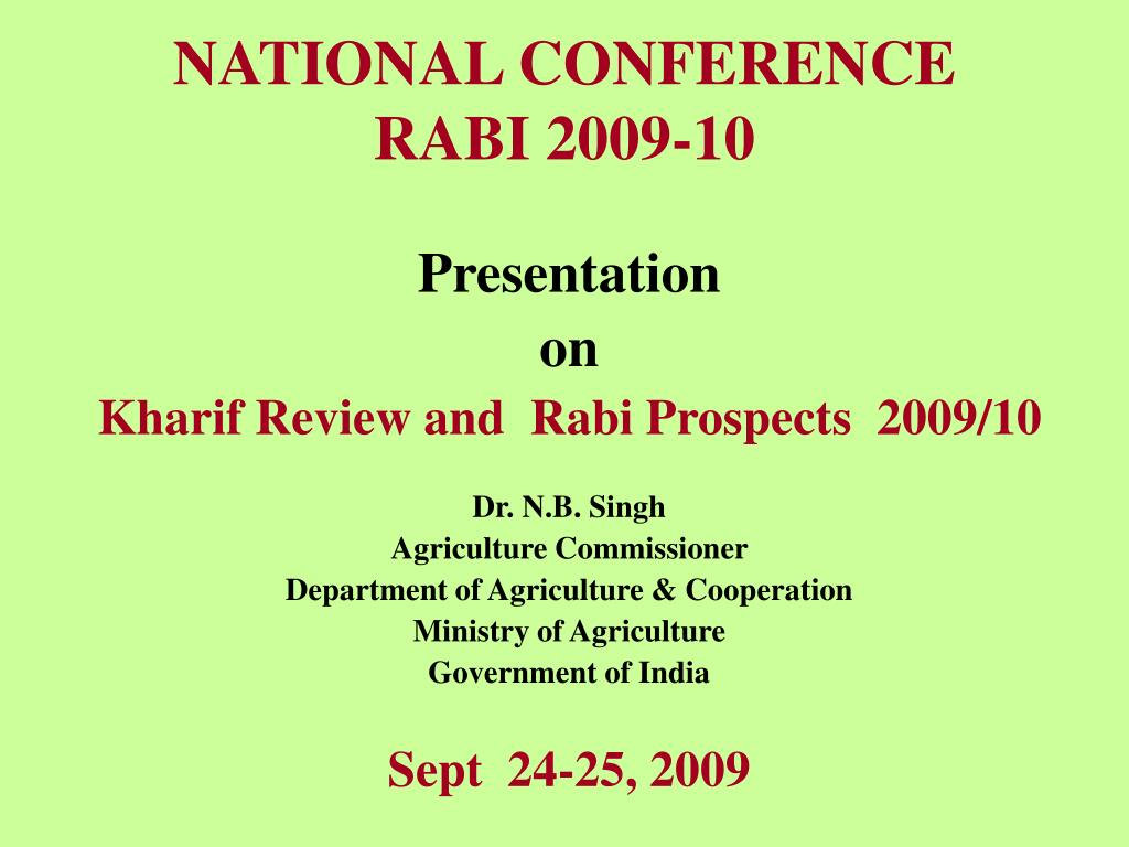 national conference rabi 2009 10 l.