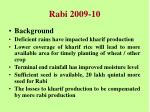 rabi 2009 10