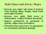 rabi maize and jowar bajra