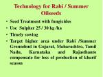 technology for rabi summer oilseeds