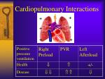 cardiopulmonary interactions52