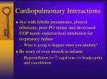 cardiopulmonary interactions53
