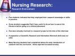 nursing research research environment25