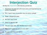interjection quiz
