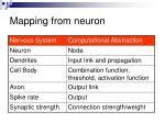 mapping from neuron