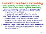 availability benchmark methodology