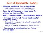 cost of bandwidth safety