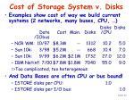 cost of storage system v disks