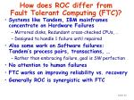 how does roc differ from fault tolerant computing ftc