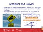 gradients and gravity