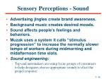 sensory perceptions sound