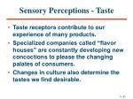 sensory perceptions taste