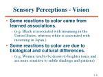 sensory perceptions vision