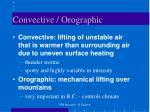 convective orographic